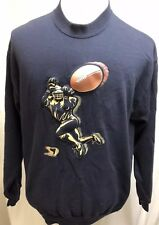 Vintage Lee Sweatshirt 3-D Graphics Football Receiver Spor-D Brand 1980's