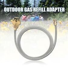 Camping Propane Refill Adapter LP Gas Flat Cylinder Tank Coupler Adapter US P1R5
