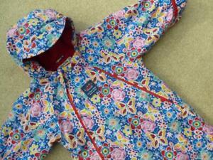 JOJO MAMAN BEBE 🌺 Waterproof Fleece Lined All In One SNOWSUIT 12-18m  REUC Butt