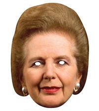 Margaret Thatcher 2D Maschera Di Cartone Feste Costume Politico Tory Iron Lady