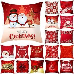 """Christmas Santa Claus Cushion Cover Throw Sofa Xmas Pillow Case Home Decor 18"""""""