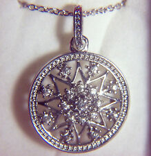 NEW IN BOX SILVERTONE NECKLACE WITH A BEAUTIFUL SNOWFLAKE PENDANT WITH CRYSTALS