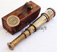 "Victorian Marine Old Antique Telescope 16"" Maritime Nautical Brass Spyglass"