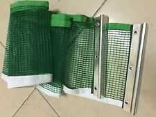 Ping Pong Table Tennis Net Green Replacement Nylon Net +Metal Post Set