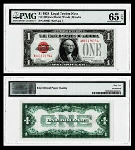 1928 $1 Red Seal Legal Tender Note~Fr.1500~CH UNCIRCULATED ~PMG 65EPQ