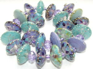 "Sistersbeads ""P-Purple Sage"" Handmade Lampwork Beads"