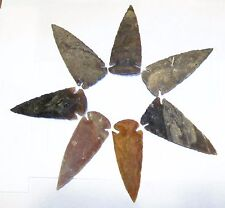 "10 KNAPPED 2 3/4"" - 3 1/2"" NEW AGATE ARROWHEADS FOR RESALE, JEWELRY, CRAFTS"