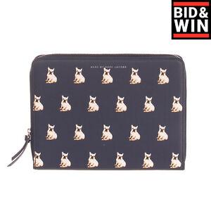 MARC BY MARC JACOBS Clutch Bag iPad Case Dog Print Zip Around Closure