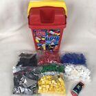 Genuine Mega Bloks Micro Mega Bloks Over 600 Bloks Carrying Bucket Pieces