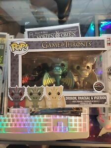 Drogon Rhaegal Viserion Metallic   Game of Thrones   Funko Pop! Vinyl   Gamestop