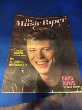 The Music Paper Magazine Featuring David Bowie 1987 Rare