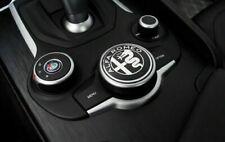 Logo controller multimediale Alfa Romeo Giulia Stelvio 50mm Nero Cromo