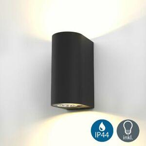 LED Wandleuchte Außen Innen IP44 Leuchte Lampe Wandspot Strahler GU10 Wohnzimmer