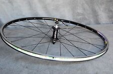 Chris King black hub laced to MAVIC Open Pro Front Wheel BLACK Clincher 700C 28H