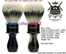 """MS - Extra Density 100% Silvertip Badger Shaving Brush-""""Memphis"""" - E&H 24mm Knot"""