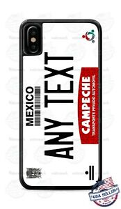 Campeche City Mexico Vintage License Phone Case For iPhone 12 Samsung LG Google
