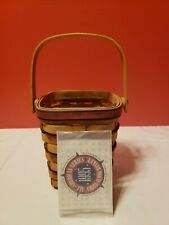 Longaberger 1995 All American Carry Along Basket w Protector Combo