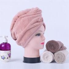 Magic Hair Drying Towel Hat Cap Microfibre Quick Dry For Lady Bath Shower Cap **