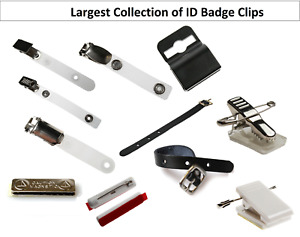 All types of Clips for Holding your ID Card Badge Holder. Select your type & Qty