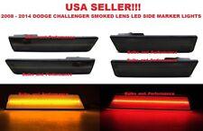 2008 - 2014 DODGE CHALLENGER SMOKED LENS LED SIDE MARKER LIGHTS FRONT & REAR SET