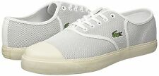LACOSTE RENE 217 2 CAM TRAINERS. GREY WHITE MESH CANVAS, SZ 10.5 UK, 45 EU, NEW