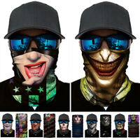 Cycling Joker Face Neck Scarf Half Face Mask Gaiter Bandana Headband Head Wrap