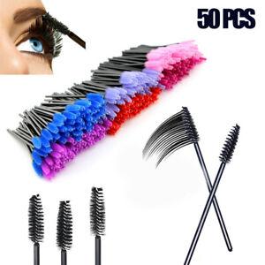 Wholesale 50Pcs Disposable Eyelash Brush Mascara Wands Applicator Makeup Tool