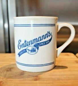Vintage 1980's Entenmann's Bakery Coffee Mug Blue White Storefront Cup Est 1898