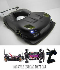 1/10 Scale MAZDA RX7 RTR Custom RC Drift Cars 4WD 2.4Ghz & Charger