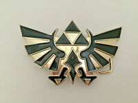 2008 Nintendo Official Legend of Zelda Metal Belt Buckle Black/Gold
