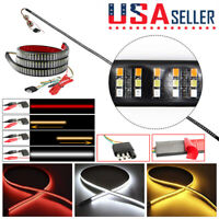 "60"" 3-Row 432 LED Truck Tailgate Light Bar Strip Reverse Brake Signal Tail Lamp"