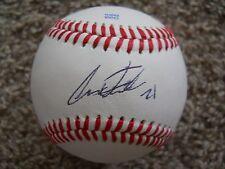 Alex Faedo Signed Baseball ( Florida ) 1st. Rd. Pick Detroit