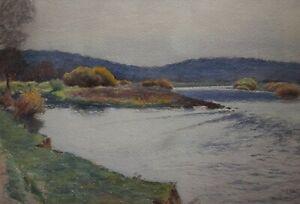 Aquarelle E Millot Messein 1915 Meurthe et Moselle- qualité