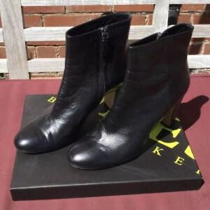 Jones The Bootmaker Black Leather Boots Uk9 Euro42