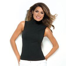 Damen Shirt mit Stehkragen ärmellos T-Shirt Top Oberteil NAHTLOS