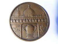 Médaille française bronze ancienne 1906 internat pharmacie hopitaux Lyon A Rugis