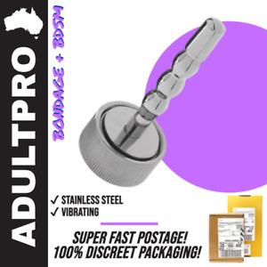 Mushroom Vibrating Penis Plug Steel Urethral Sound Sex Toy