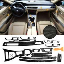 New listing For Bmw 3-Series E90 2005-13 5D Interior Glossy Carbon Fiber Wrap Trim Decal Dec