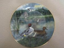 """The Pintail"" Duck Decorative Plate by Bart Jerner 1986 Living with Nature 9757G"