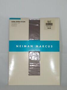 Neiman Marcus Size B Gunmetal Vintage Pantyhose Hosiery Control Top Sandalfoot