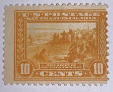 Travelstamps: 1913 US STAMPS SCOTT# 400  Mint, og, hinged, San Francisco Bay