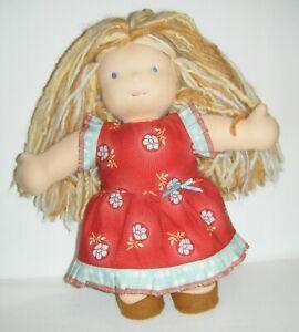"""Bamboletta Waldorf Classic Doll Spring/Summer 2012 Cloth 15"""" Blonde Hair BlueEye"""