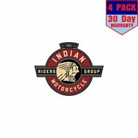 Indian Motorcycle Riders Group 4 Stickers 4x4 Inches Sticker Decal