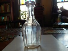 "Rare 7"" Tall 10 Sided Blown Decanter"