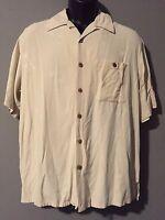 Banana Cabana Medium Hawaiian Shirt Short Sleeve Button-Front Hawaiian Shirt