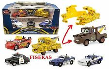 Disney Store Cars Die Cast To Protect and Serve Police Sheriff Mike Didi Set NEW