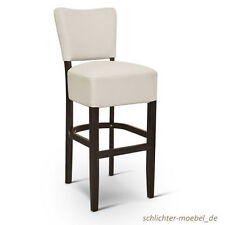 BISTRO Gastronomie Barhocker Barstuhl Bar Hocker - Kunstleder Weiß