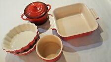 Le Creuset Stoneware Baking Pan Cocoote Spice Jar & 2 Rocq Parisian Quiche Tart