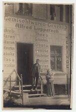 1920s Germany German Town Real Photo Postcard ALFRED LUPPAIZCH Grocery Store