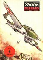 "GENUINE PAPER-CARD MODEL KIT- PZL-38 ""WILK""A fighter-bomber plane"